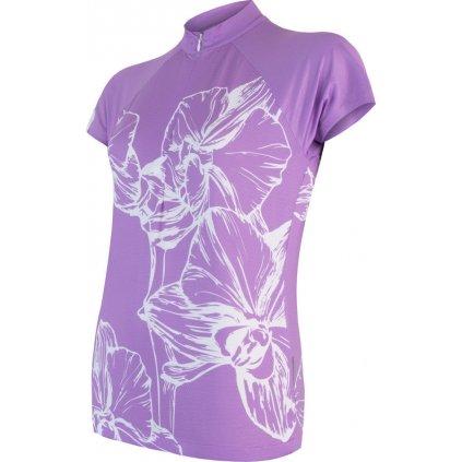 Dámský cyklodres SENSOR Cyklo Flowers fialová