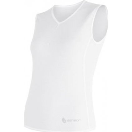 Dámské funkční triko SENSOR Coolmax Air bez rukávu bílá