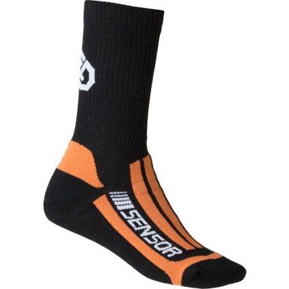 Ponožky SENSOR Treking merino černá/oranžová
