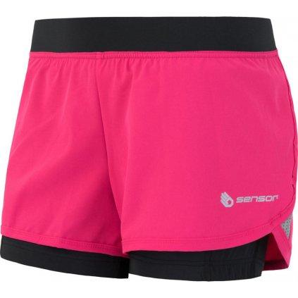 SENSOR TRAIL dámské šortky růžová/černá