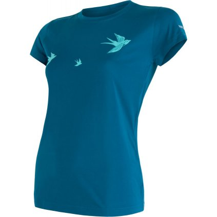 Dámské funkční tričko SENSOR Coolmax fresh pt swallow modrá
