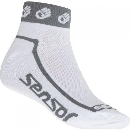 Ponožky SENSOR Race lite small hands bílá