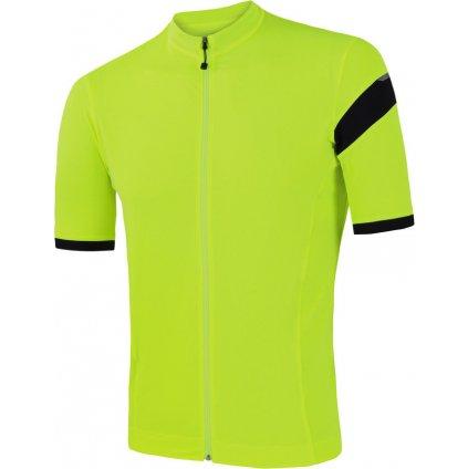 SENSOR CYKLO CLASSIC pánský dres kr.rukáv celozip reflex žlutá/černá