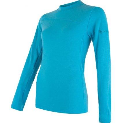 SENSOR MERINO EXTREME dámské triko dl.rukáv modrá