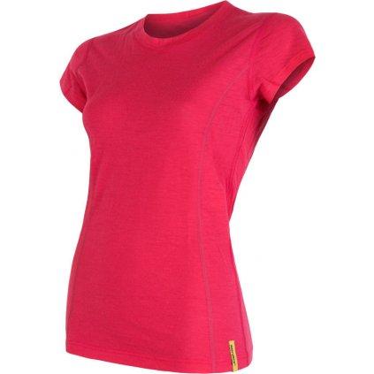 Dámské termo tričko SENSOR Merino active růžová