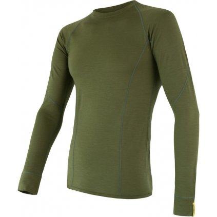 Pánské tričko SENSOR Merino active zelená