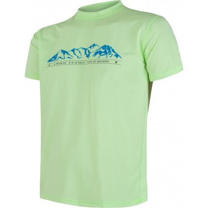 Pánské funkční tričko SENSOR Coolmax fresh pt mountains zelená