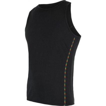 SENSOR MERINO AIR pánské triko bez rukávu černá