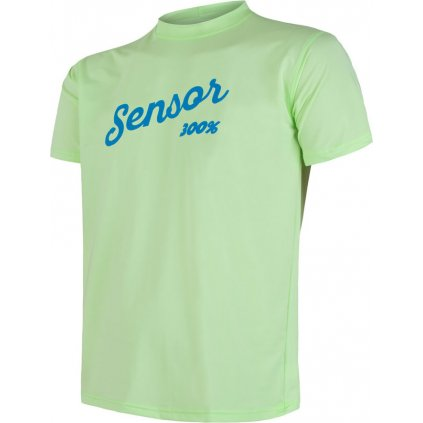 Pánské funkční tričko SENSOR Coolmax fresh pt logo zelená