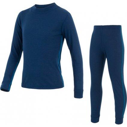 Dětský set termo prádla SENSOR Original active tmavě modrá