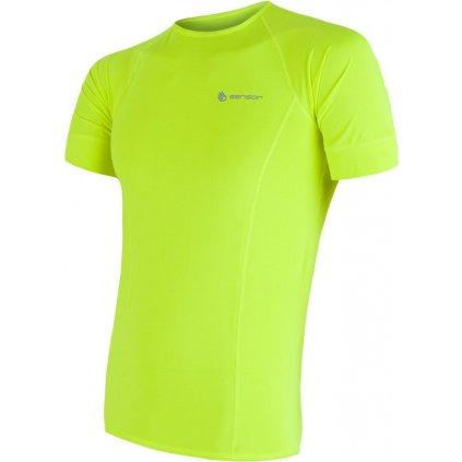 SENSOR COOLMAX FRESH pánské triko kr.rukáv žlutá reflex (Akce B2B)