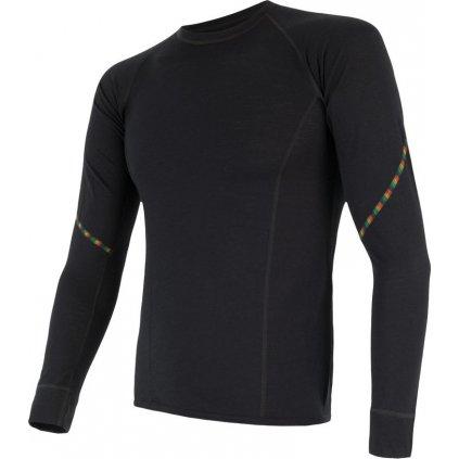 Pánské termo tričko SENSOR Merino air černá