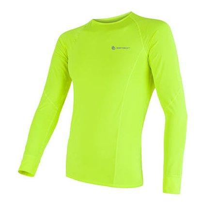 SENSOR COOLMAX FRESH pánské triko dl.rukáv reflex žlutá