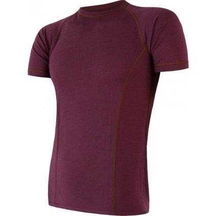 Pánské termo tričko SENSOR Merino air vínová