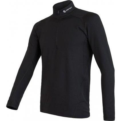 SENSOR COOLMAX THERMO pánské triko dl.rukáv zip černá