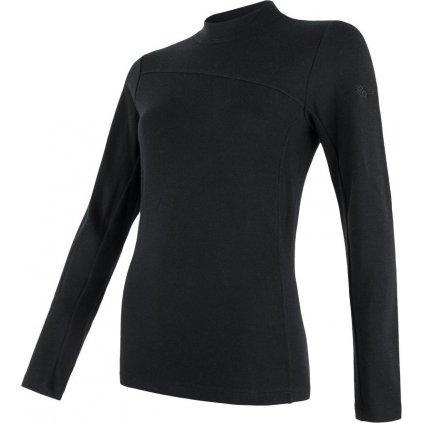 SENSOR MERINO EXTREME dámské triko dl.rukáv černá