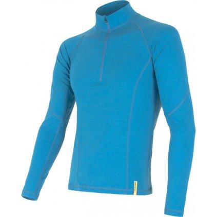 Pánské termo tričko SENSOR Merino df sv. modrá/zip