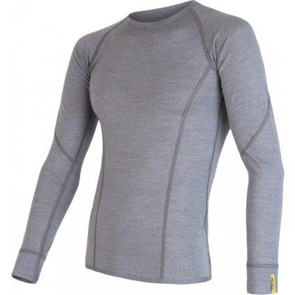 Pánské tričko SENSOR Merino active šedá
