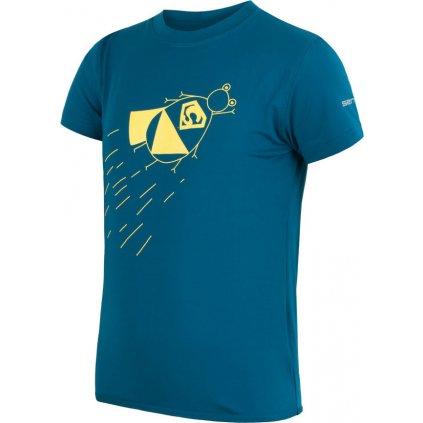 Dětské funkční tričko SENSOR Coolmax fresh pt zupaman tyrkysová