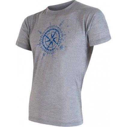 Pánské termo tričko SENSOR Merino active pt compass šedá