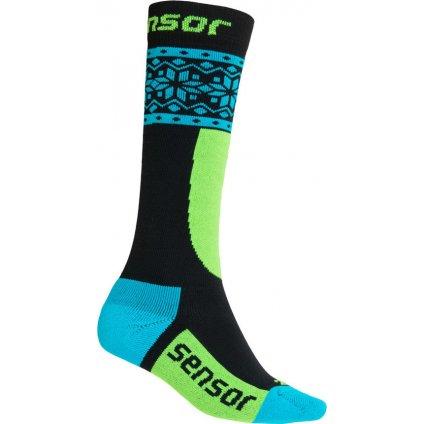 Dětské ponožky SENSOR Thermosnow norway černá/modrá
