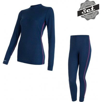 Dámský set termo prádla SENSOR Merino active set modrá