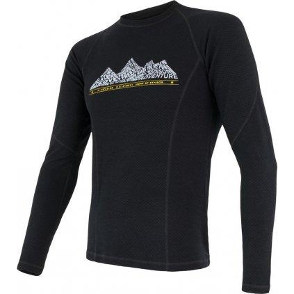 Pánské termo tričko SENSOR Merino df adventure černá