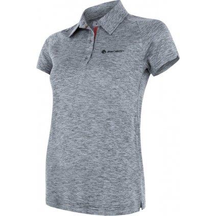 SENSOR MOTION dámské triko polo kr.rukáv šedá
