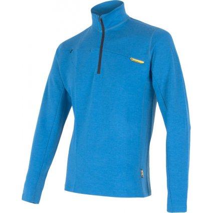 Pánská mikina SENSOR Merino upper modrá zip