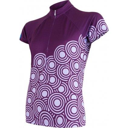 SENSOR CYKLO CIRCLE dámský dres kr.ruk. fialová (Akce B2B)