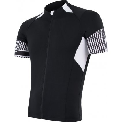 SENSOR CYKLO RACE pánský dres kr.ruk. černá/bílá