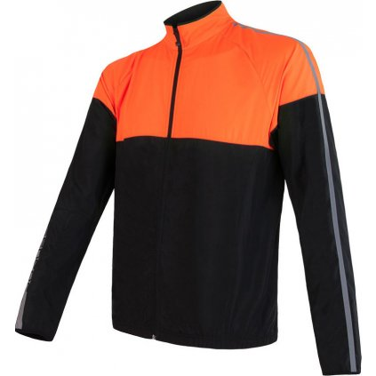 SENSOR NEON pánská bunda černá/reflex oranžová
