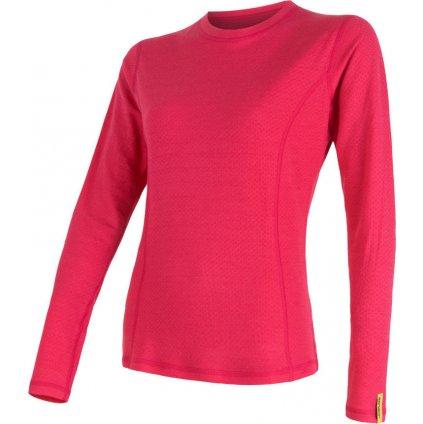 Dámské termo tričko SENSOR Merino df růžová