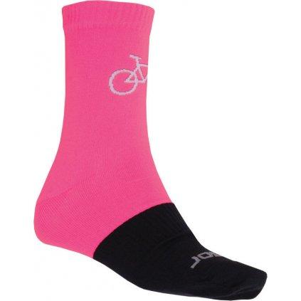 Ponožky SENSOR Tour merino růžová/černá