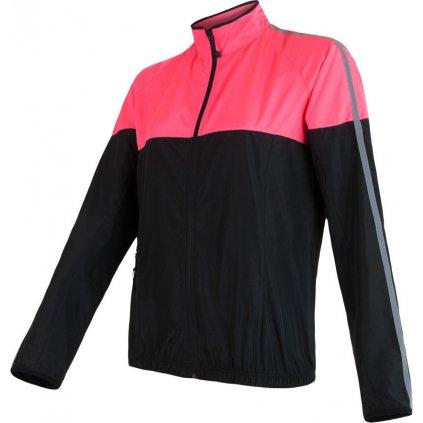 Dámská bunda SENSOR Neon černá/růžová