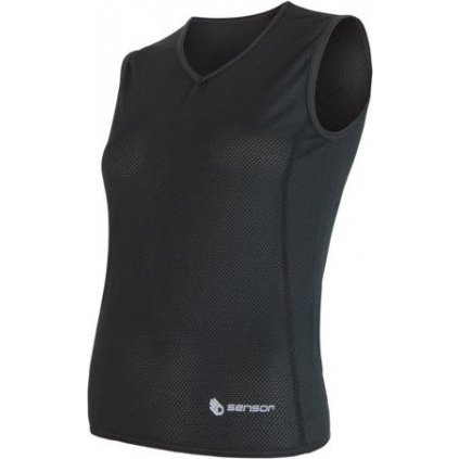 Dámské funkční triko SENSOR Coolmax Air bez rukávu černá