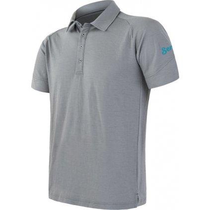Pánské termo polo tričko SENSOR Merino active polo šedá