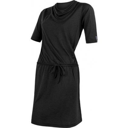 SENSOR MERINO ACTIVE dámské šaty černá