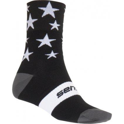 Ponožky SENSOR Stars černá/bílá