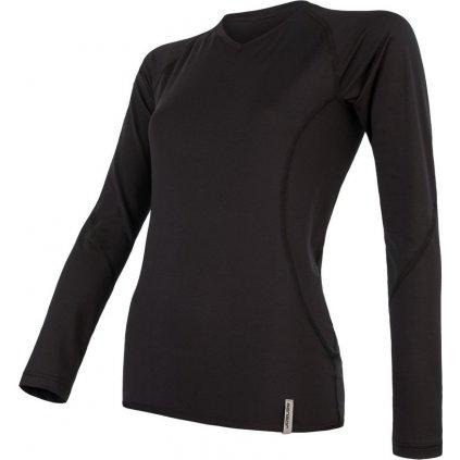 Dámské funkční tričko SENSOR Coolmax tech černá