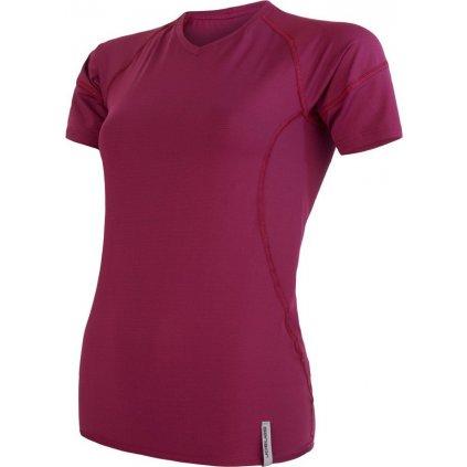 Dámské funkční tričko SENSOR Coolmax tech fialová