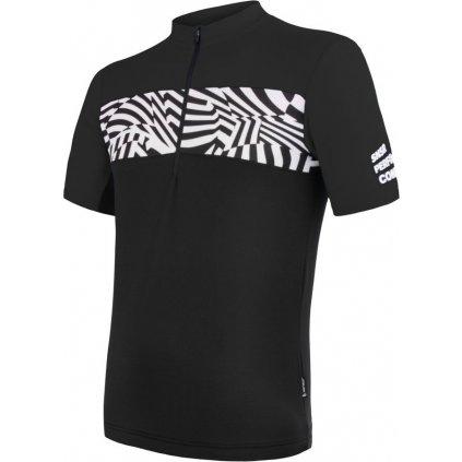 SENSOR CYKLO MILES pánský dres kr.rukáv černá