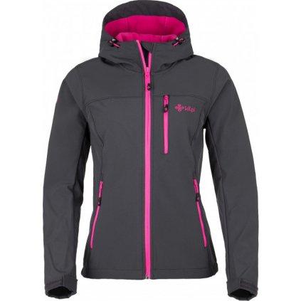 Dámská softshellová bunda KILPI Elia šedá+růžová