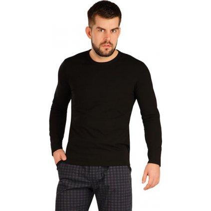 Pánské bavlněné triko LITEX s dlouhým rukávem