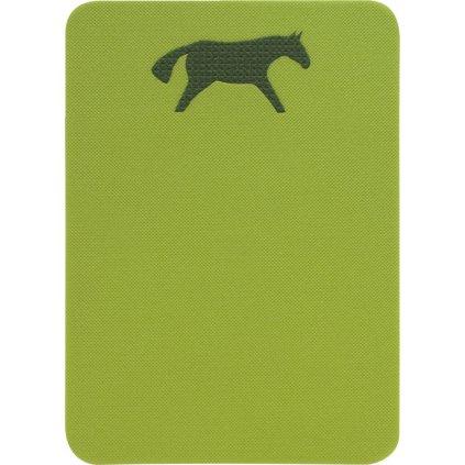 Sedátko YATE koník 400x285x10mm zelená/tm. zelená