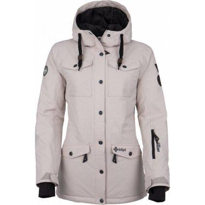 Dámská lyžařská bunda KILPI Geisa-w světle šedá