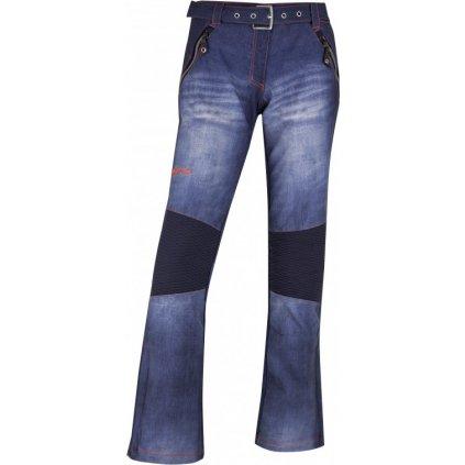 Dámské lyžařské softshellové kalhoty KILPI Jeanso-w modrá