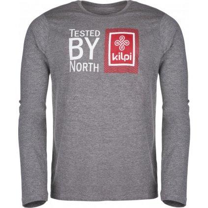 Pánské bavlněné tričko KILPI Tested-m tmavě šedá