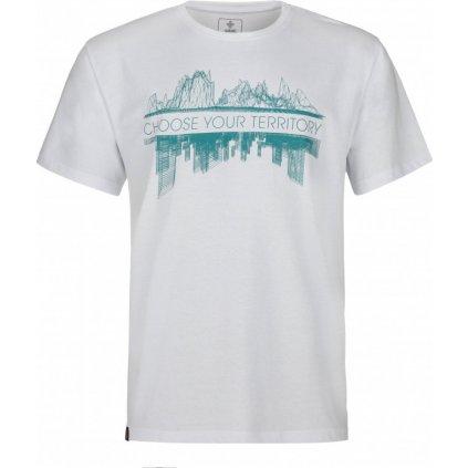 Pánské bavlněné tričko KILPI Territory-m bílá