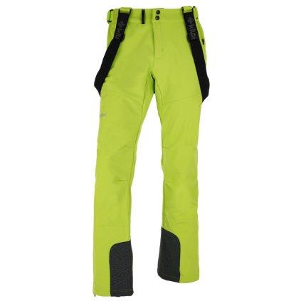 Pánské lyžařské softshellové kalhoty KILPI Rhea-m světle zelená